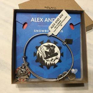 Alex And Ani Team USA Snowboarding Bracelet Silver